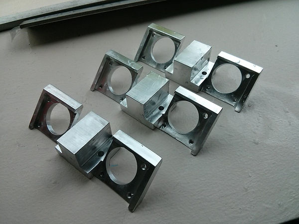 Finished CNC machined parts for 3D delta printer