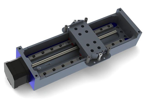 Assembly of a linear stage