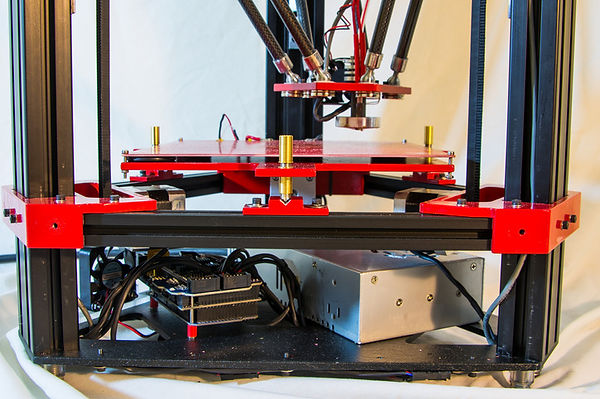 Adjustable kinematic mount used for heated bed on 3d delta printer