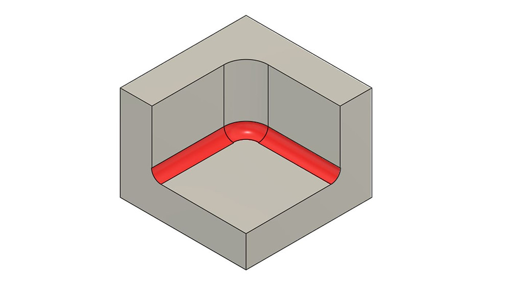 Avoid bottom edge fillets for CNC machining, they add cost and machining time