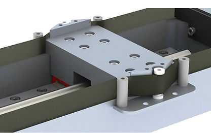 The rolling belt design to keep dust and particles out of the linear stage