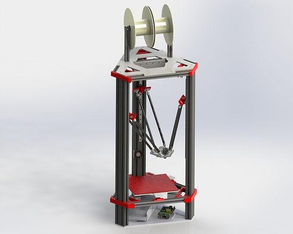 Homemade 3D Delta Printer Render