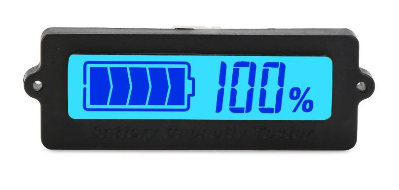 Digital power gauge used to tell the output of a lithium ion battery pack