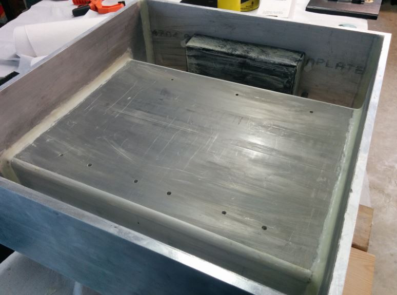 Assembled mold with wax mold release for epoxy granite