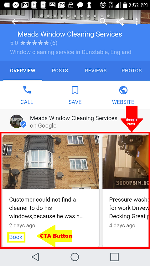 Google Posts view on Smartphone - Local SEO Whisperer