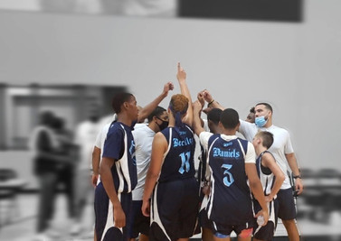 Team Huddle during M.A.Y.B. Championship game