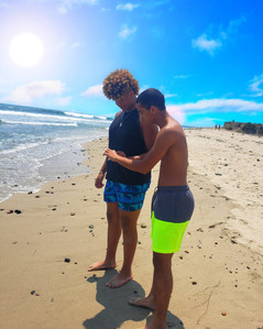 Big J & Quan on Malibu beach