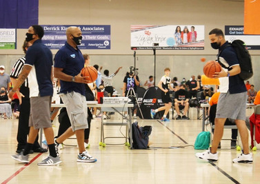 Coach Anton, Coach Kamal, and Coach Lew at PrimeTime Nationals