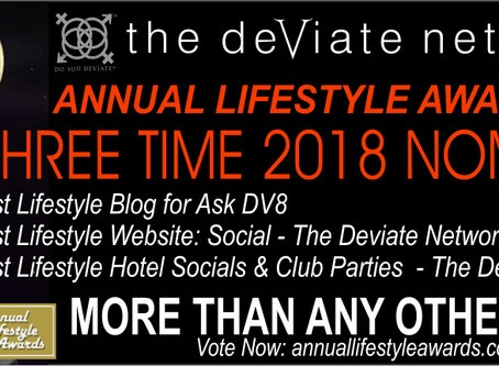 The Deviate Network Receives Three 2018 Annual Lifestyle Award Nominations!