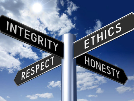 Ethics; they're a personal thing