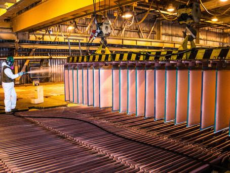 El precio del cobre se mantiene encima de US$ 4/lb en abril 2021