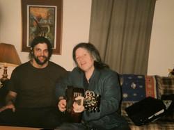 Jamie with Robbie Walsh of Noel Redding Band