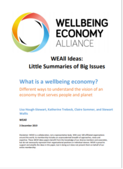 Briefing- What is a wellbeing economy?