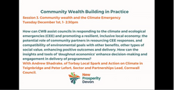 Community Wealth and the Climate Emergency
