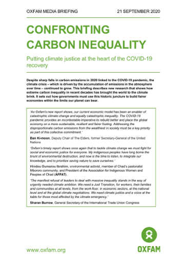 Media Briefing Carbon Inequality