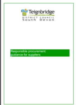 Guidance for suppliers Teignbridge District Council