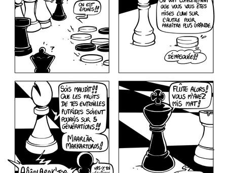 3 pages de jeu d'échec