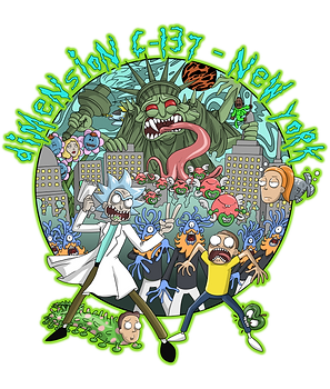 T-Shirt de Rick&Morty (la série la déjantée du multivers), pour un fan
