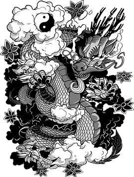 Un T-Shirt de Dragon Chinois