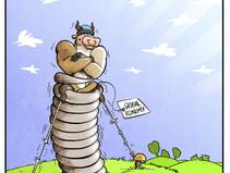 Dessin caricatural/cartoon pour un article d'économie