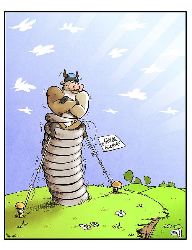 Caricature pour article d'économie