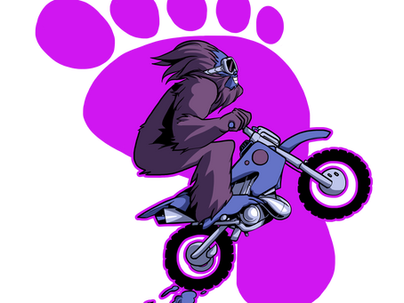 Bigfoot sur un dirtbike...