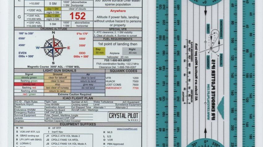 IFR Enroute Plottter & IFR-VFR Placard