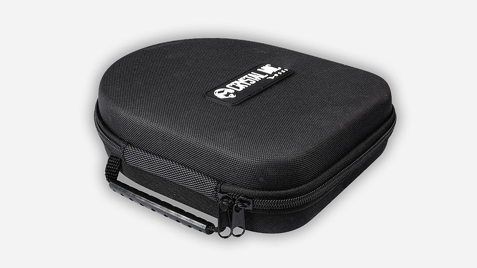 Hard case for headphones and Crystal Mic