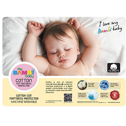 Quilted Cotton Cot Mattress Protector