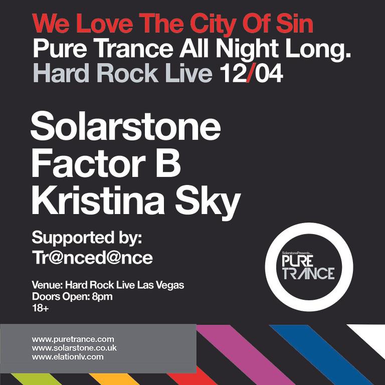 Elation presents Pure Trance Vegas ft. Solarstone, Factor B, Kristina Sky