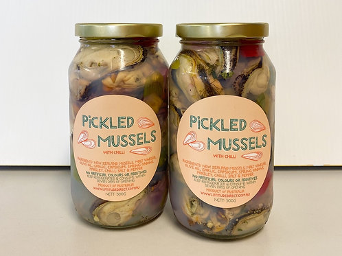 Pickled Mussels with Chilli