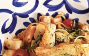 On the table: Frutti de Mare Pasta