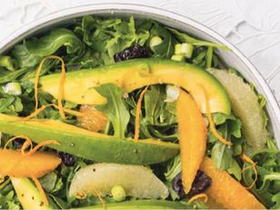 On the table: Citrus & Avocado Salad