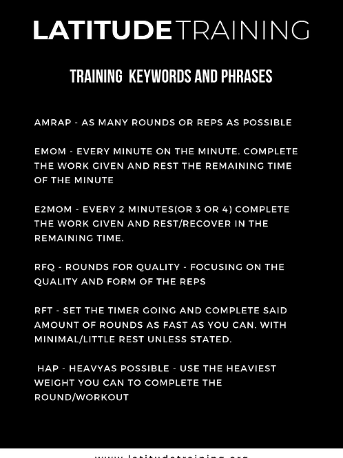 Training Keywords and Phrases