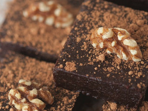 On the table: Raw Energy Brownies