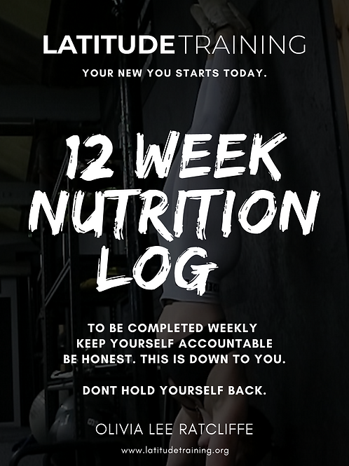 12 Week Nutrition Log