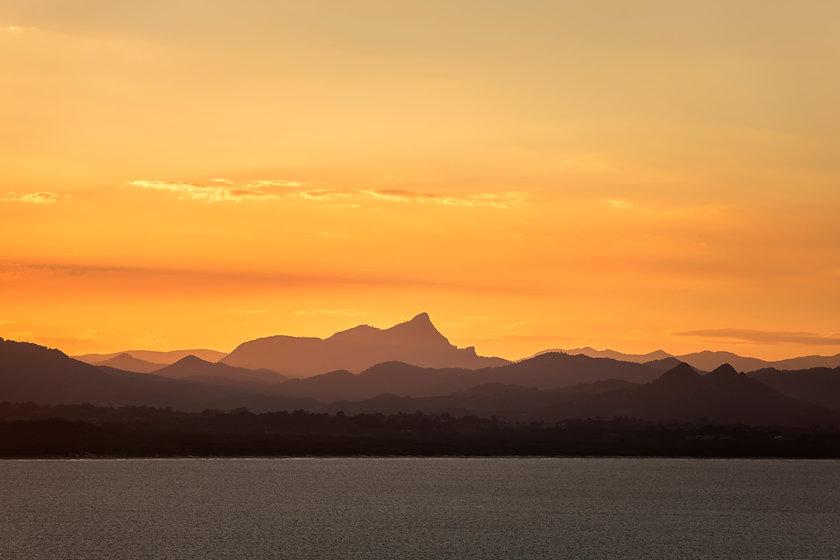 Sunset over over Byron Bay, Australia.jp