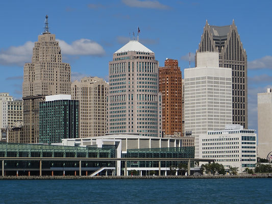 Buildings in downtown Detroit