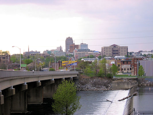 Allentown cityscape with highway
