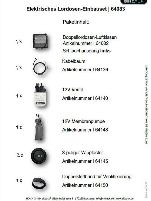 SITBACK®  64083 | Einbauset Schlauch links