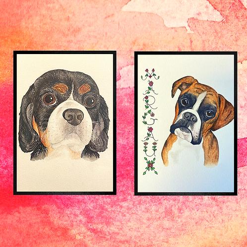 2 X A5 Pet Portraits