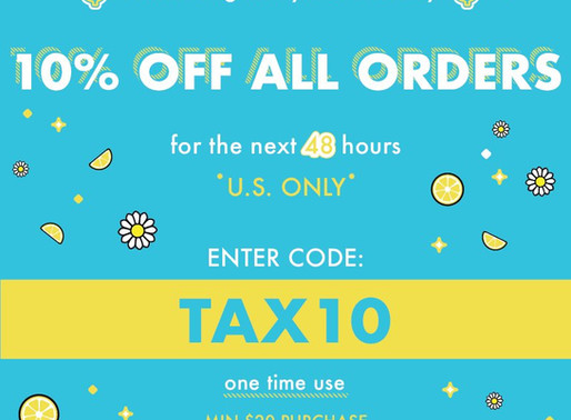 ColourPop Tax Day Promotion