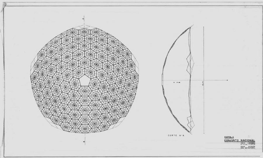 conjunto nacional - cúpula geodésica