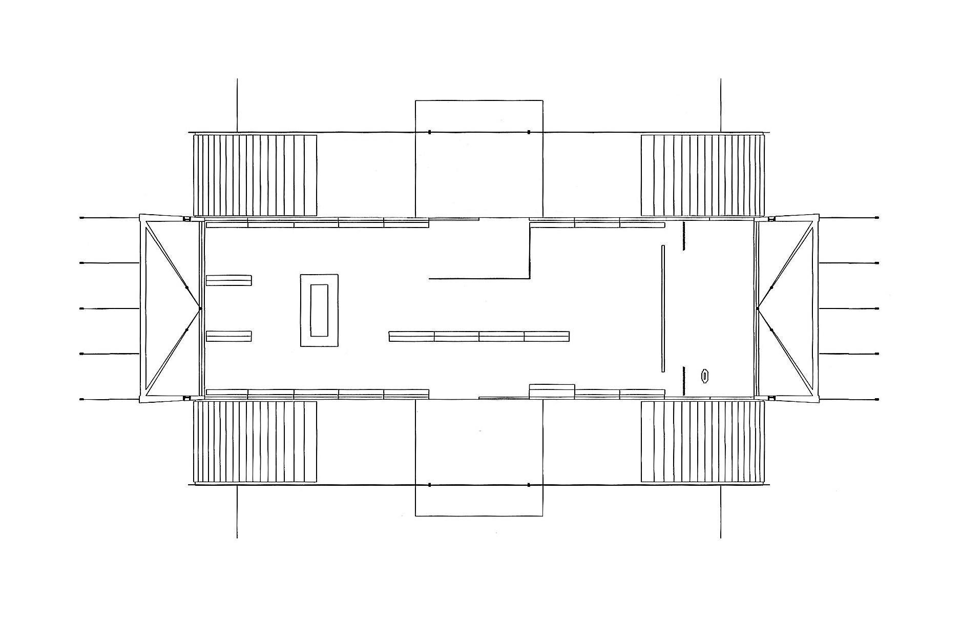 pavilhão de volta redonda