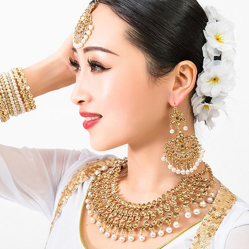 2020 New Nepal Ethnic Indian Saree Dancing Drop  Accessory+Necklace+Earrings