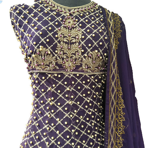 STUNNING FROCK WITH GHARARA DRESS