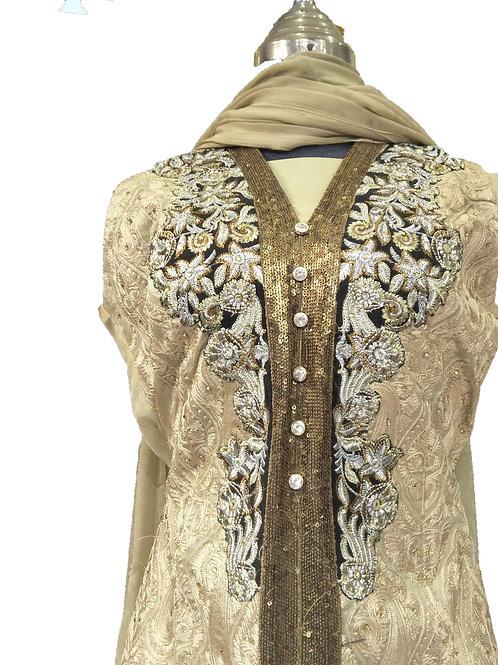 Open Coat Chiffon Dress