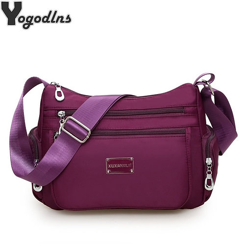 Women Casual Bolsos Messenger Bag Waterproof Nylon Shoulder Bag Large Capacity