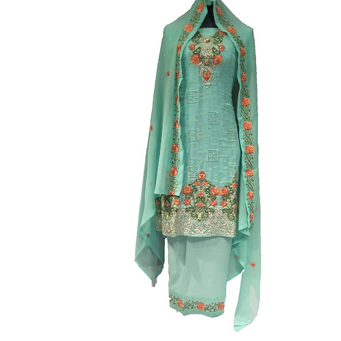 Airline Embroidered Dress