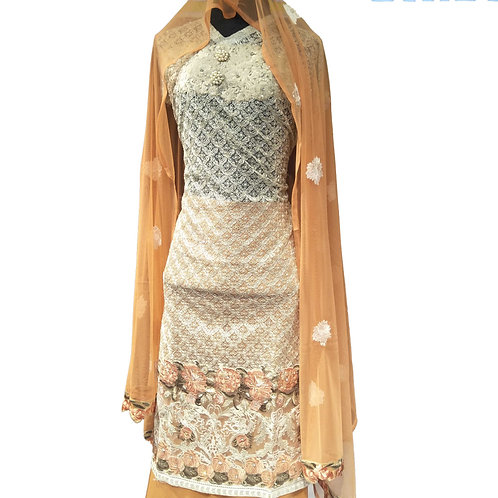 Airline Net Resham Embroidered Dress